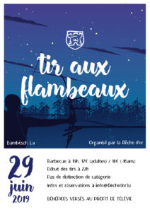 Invitation Tir aux Flambeaux 29 juin 2019